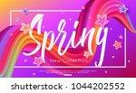 spring collection banner design ... | Shutterstock .eps vector #1044202552