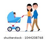 vector illustration cartoon... | Shutterstock .eps vector #1044208768