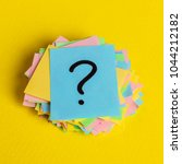 just a lot of question marks on ... | Shutterstock . vector #1044212182