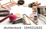 flat lay of professional... | Shutterstock . vector #1044212632
