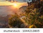 hopi point by sunrise  grand...   Shutterstock . vector #1044213805