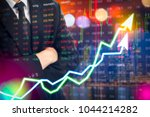 stock market digital graph... | Shutterstock . vector #1044214282