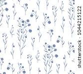 hand drawn seamless pattern... | Shutterstock .eps vector #1044215122