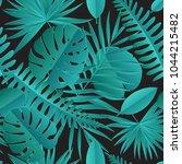 paper palm  monstera leaves... | Shutterstock .eps vector #1044215482