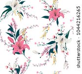 trendy  floral pattern in the... | Shutterstock .eps vector #1044216265