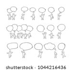 speech bubbles icons set with... | Shutterstock .eps vector #1044216436