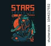 stars traveler illustration | Shutterstock .eps vector #1044217552