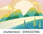 abstract summer or spring... | Shutterstock .eps vector #1044222586