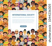 international community with... | Shutterstock .eps vector #1044236305