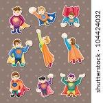 superhero stickers | Shutterstock .eps vector #104424032