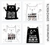 vector cartoon sketch cat... | Shutterstock .eps vector #1044240676