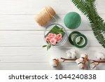 florist equipment with flowers... | Shutterstock . vector #1044240838