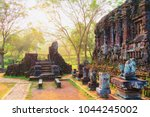 sunrise at ruins of old hindu... | Shutterstock . vector #1044245002
