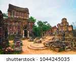 ruins of old hindu temple at my ... | Shutterstock . vector #1044245035