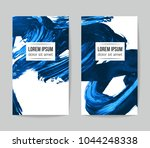 set of vector business card... | Shutterstock .eps vector #1044248338