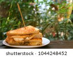 grilled cheese sandwich | Shutterstock . vector #1044248452