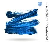 blue brush stroke and texture.... | Shutterstock .eps vector #1044248758
