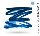 blue brush stroke and texture.... | Shutterstock .eps vector #1044248812