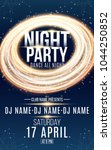 poster for night dance party.... | Shutterstock .eps vector #1044250852
