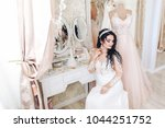 portrait of a young bride... | Shutterstock . vector #1044251752