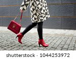 Stylish Woman In Red Shoes...