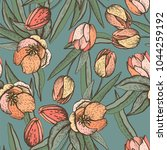 spring graphic seamless with... | Shutterstock .eps vector #1044259192