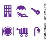 hotel icons set. | Shutterstock .eps vector #1044259246