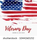 usa veterans day background.... | Shutterstock .eps vector #1044260152
