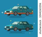car. flat design. | Shutterstock .eps vector #1044263206