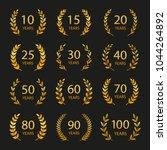 set of anniversary laurel... | Shutterstock .eps vector #1044264892
