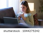 portrait of beautiful young...   Shutterstock . vector #1044275242