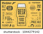 poster or banner with text beer ... | Shutterstock . vector #1044279142