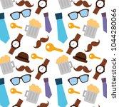 pattern decoration mustache...   Shutterstock .eps vector #1044280066