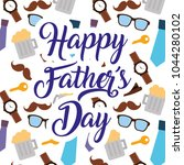 happy fathers day pattern...   Shutterstock .eps vector #1044280102