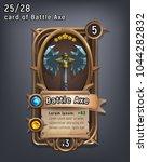 card of fantasy battle axe... | Shutterstock .eps vector #1044282832