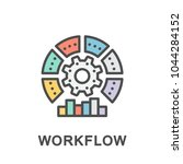 icon workflow. sequence of... | Shutterstock .eps vector #1044284152