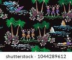 skull surfer print2 | Shutterstock .eps vector #1044289612