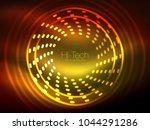 glowing neon dotted shape... | Shutterstock .eps vector #1044291286