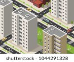 town isometric concept 3d with... | Shutterstock .eps vector #1044291328