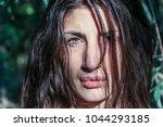beautiful pagan woman looking... | Shutterstock . vector #1044293185