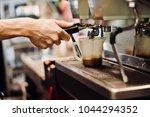 coffee brewing methods | Shutterstock . vector #1044294352