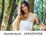 beautiful pagan woman in the... | Shutterstock . vector #1044294358