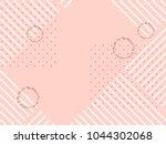 geometric striped ornament.... | Shutterstock .eps vector #1044302068