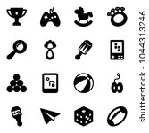 solid vector icon set   gold... | Shutterstock .eps vector #1044313246