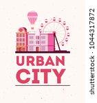 urban city design | Shutterstock .eps vector #1044317872