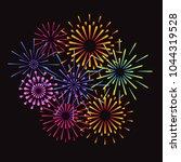 fireworks and celebration... | Shutterstock .eps vector #1044319528