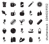 solid black vector icon set  ... | Shutterstock .eps vector #1044319552
