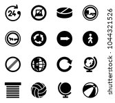 solid vector icon set   24... | Shutterstock .eps vector #1044321526
