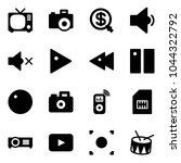 solid vector icon set   tv... | Shutterstock .eps vector #1044322792