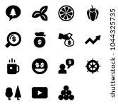 solid vector icon set   merry... | Shutterstock .eps vector #1044325735